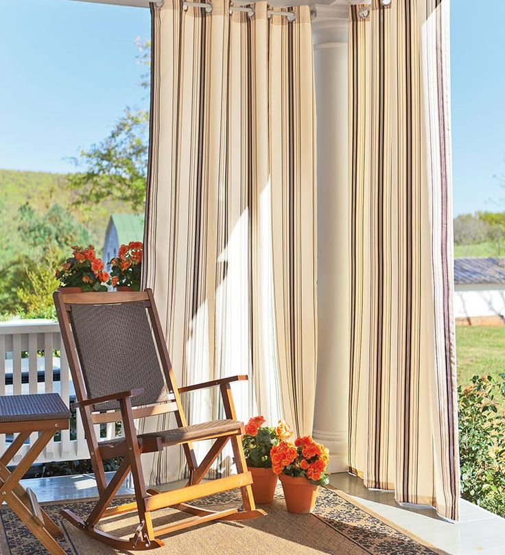 UV Resistant Outdoor Grommet Top Curtains this would