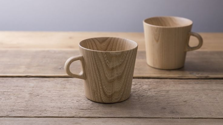 Kami Mugs - handmade from castor aralia grown in Hokkaido, Japan by Takahashi Hidetoshi, a master craftsman #mug #woodenmug