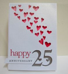 25th anniversary handmade card