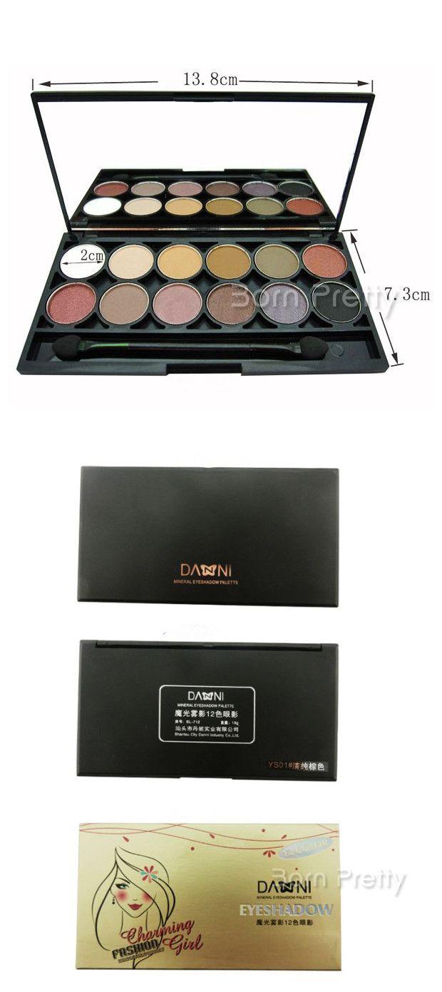$6.99 12 Colors Shimmer Matt Eyeshadow Palette Glam With Mirror - BornPrettyStore.com