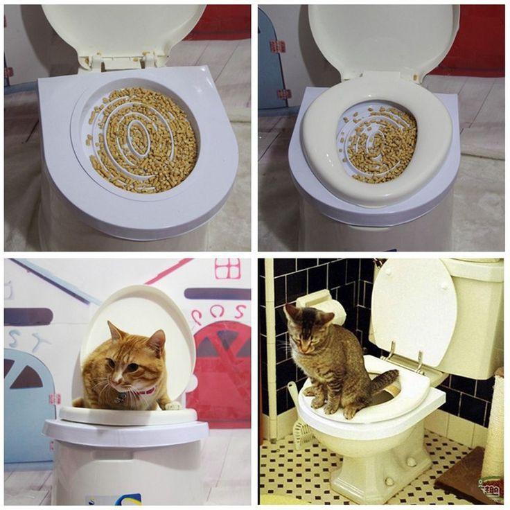 Cat Toilet Mat Training Plastic Easy to Learn Litter Tray Kitten Train #Cat #Pet #supplies #kitty