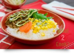 Pork and Rice with Dill Mayonnaise