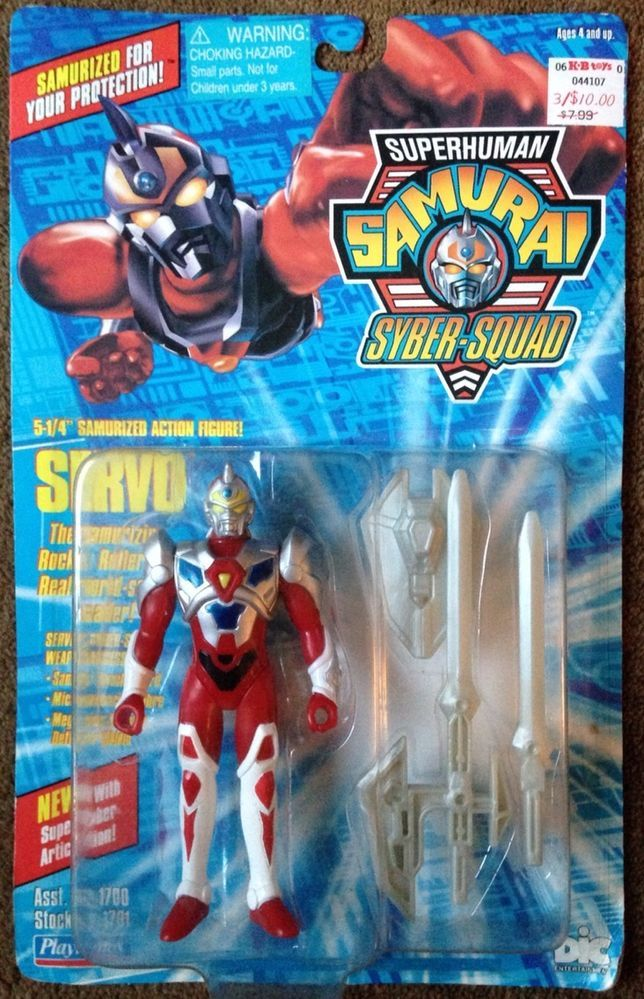 "Superhuman Samurai Syber Squad - 5.25"" Action Figure- Servo - NIP #PlaymatesToys"