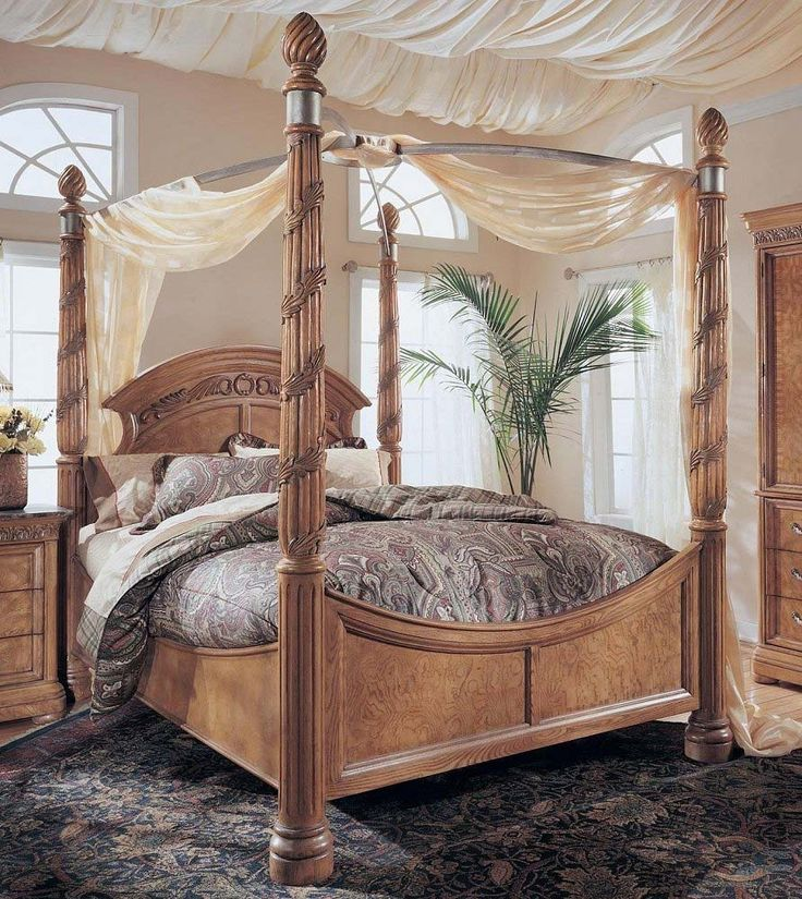 king canopy bed drapes | King size wynwood canopy bed 515x577  Canopy Bed  Bedroom Decoration