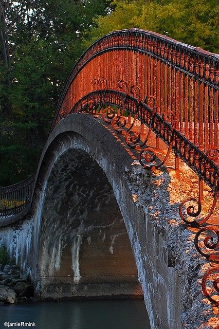 Bridge on Fire - Sibley, Trenton, Michigan ~ Photo by Jamie Mink: Beautiful Bridges, Michigan, Elizabeth Parks, Old Bridges, Jamie Mink, The Bridges, Roads Trips, Photo, Steel Arches Bridges