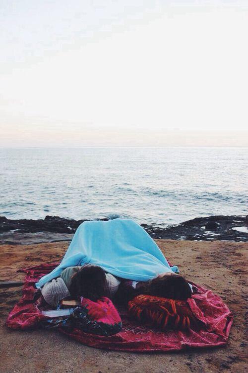Beach camping: Always a good idea.