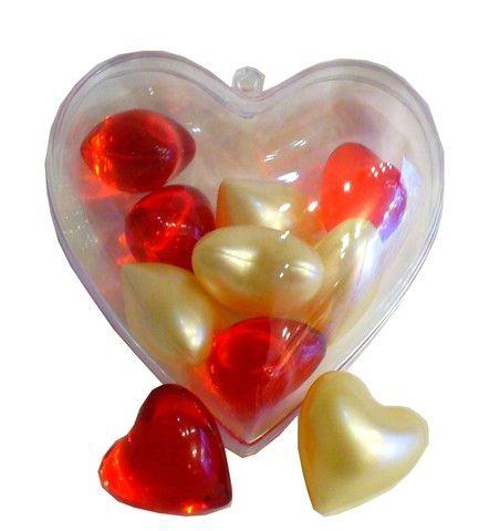 Coeur de 10 Perles de Bain Vanille Fraise