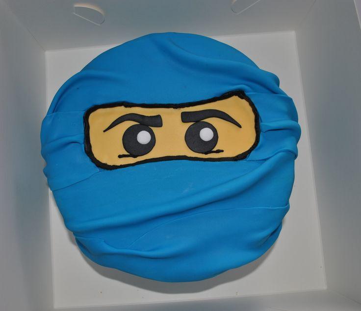 Blue ninja Jay Lego Ninjago - Blue Lego Ninjago cake... Vanilla cake with blue buttercream and blue fondant