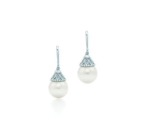 Cool Engagement Rings Trends Tiffany & Co. -  Ziegfeld Collection:Pearl Earrings Check more at http://24store.ml/fashion/engagement-rings-trends-tiffany-co-ziegfeld-collectionpearl-earrings/