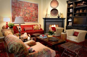 Court Meadow - eclectic - Family Room - Dallas - Cheryl Ketner Interiors