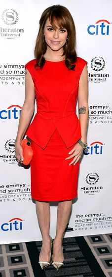 Taryn Manning in a red hot dress!
