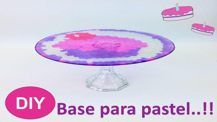 DIY ●Base para pastel.....super facil!! | Vereub - YouTube