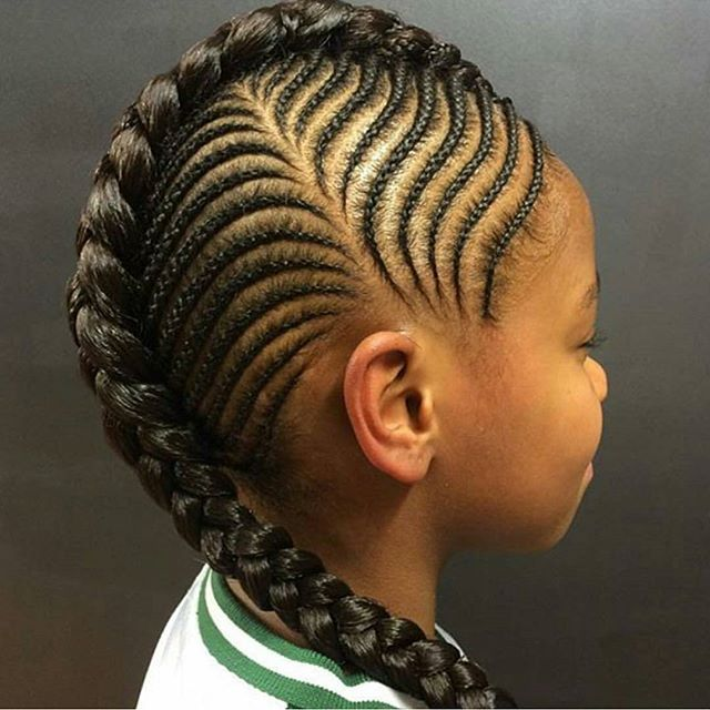Cute Amp Trendy Cornrow Styles For Lil Divas Wedding