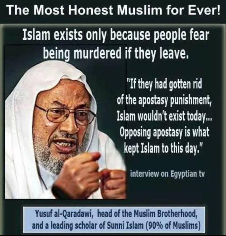 Islam would fail if they didn't kill leavers!!!