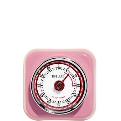 Turn back time when it comes to design, but turn the clock forward with the Fifties Forever timer to ensure the right timing when you're cooking and baking. Simply set the desired number of minutes (max. 59 minutes) using the chrome-coloured metal ring - and wait for the timer to go off. Meanwhile, the timer ticks down and, thanks to the magnet on the reverse, can be attached to your fridge so you can see it. Available in various colours.