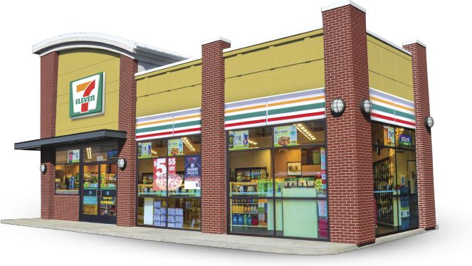 7eleven convenience store grocery store supermarket 3d for Convenience store exterior design