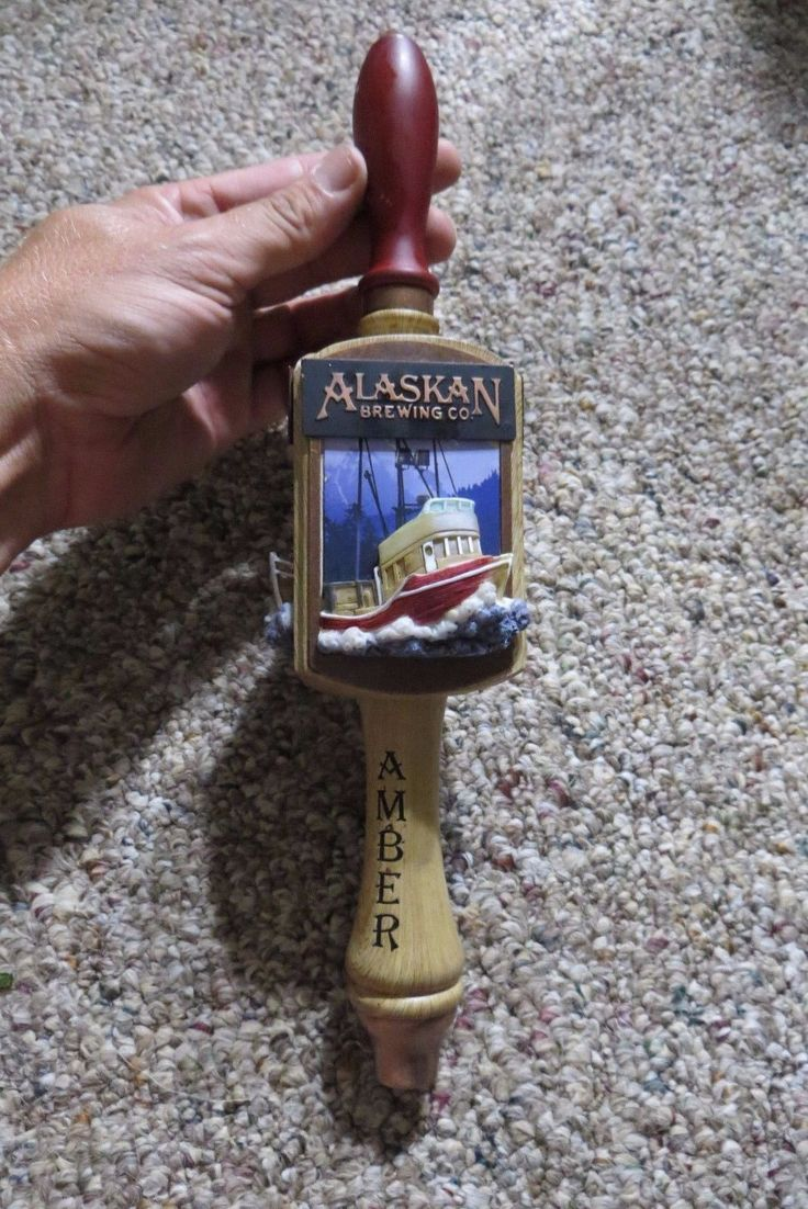 Alasakan Brewing Co.amber Beer Tap Handle Tapper Knob Fishing Vessel 3 Sided