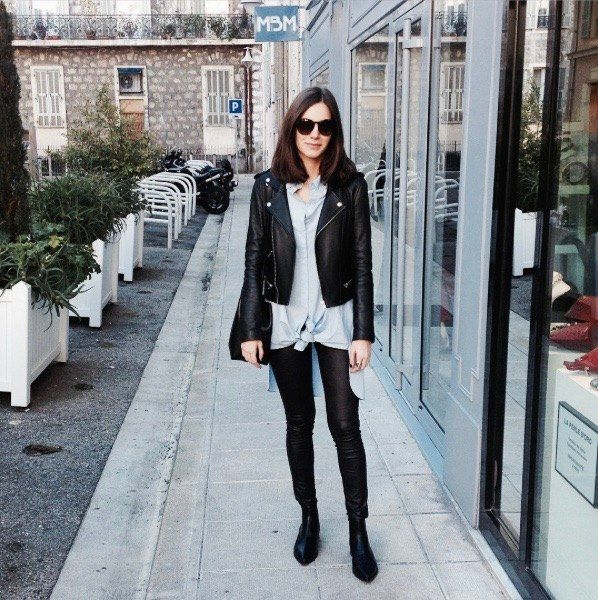 #pants #girls #women #leatherpants #pants #cuir #sexy #friends #paris #fashion #mode #modeinparis #beautiful #black #shooting #followus #blog #fan #blogueuse