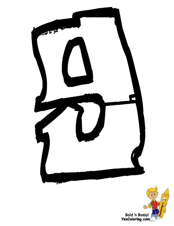 88 besten Free Alphabet Coloring Pages - Crafts \'N Learning Bilder ...