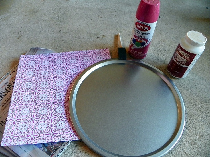 Southern Traditions Boutique: Dollar Craft ~ Pizza Pan Magnet Board