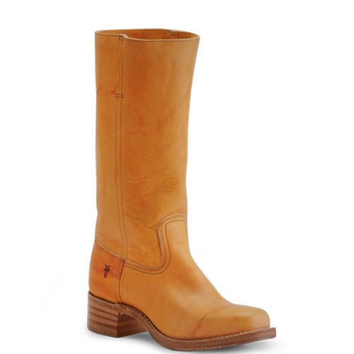 Campus 14L Frye Sunrise. International shipping -> free shipping in Europe. http://www.boeties.nl/frye-campus-14l-laarzen-met-blokhak-sunrise-geel