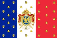 French Empire  Empire Français  ←  1852–1870 →    Flag Imperial Coat of arms  Anthem  Partant pour la Syrie (unofficial)  Departing for Syria