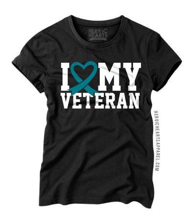 I Love My Veteran PTSD Awareness Shirt #PTSD #PTSDawareness @josephinecb @usmcwife2007 We need these!