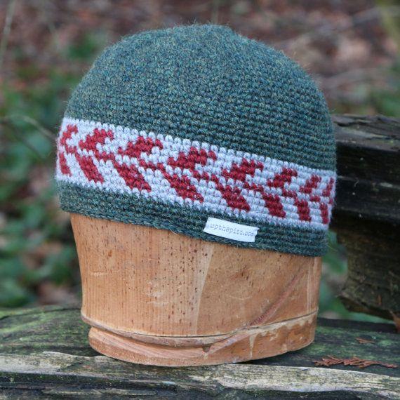 Wool beanie, unisex snowboarding hat, tapestry crochet beanie, alpaca kufi hat…