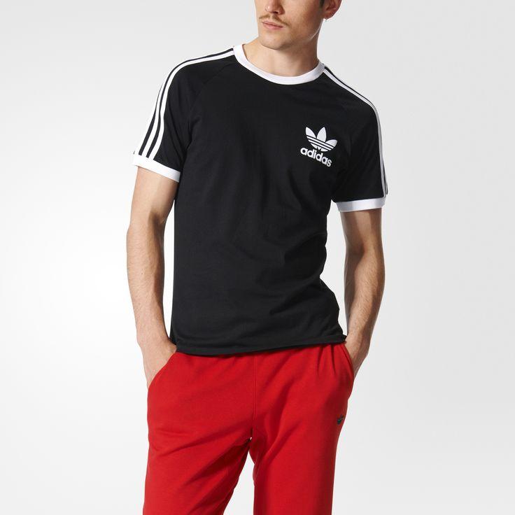 Grand classique du style baseball, ce t-shirt hommes bicolore affiche 3 bandes contrastées le long des manches et un logo Trèfle sur le cœur. Conçu en coton doux, il possède une coupe slim pour un look sport.