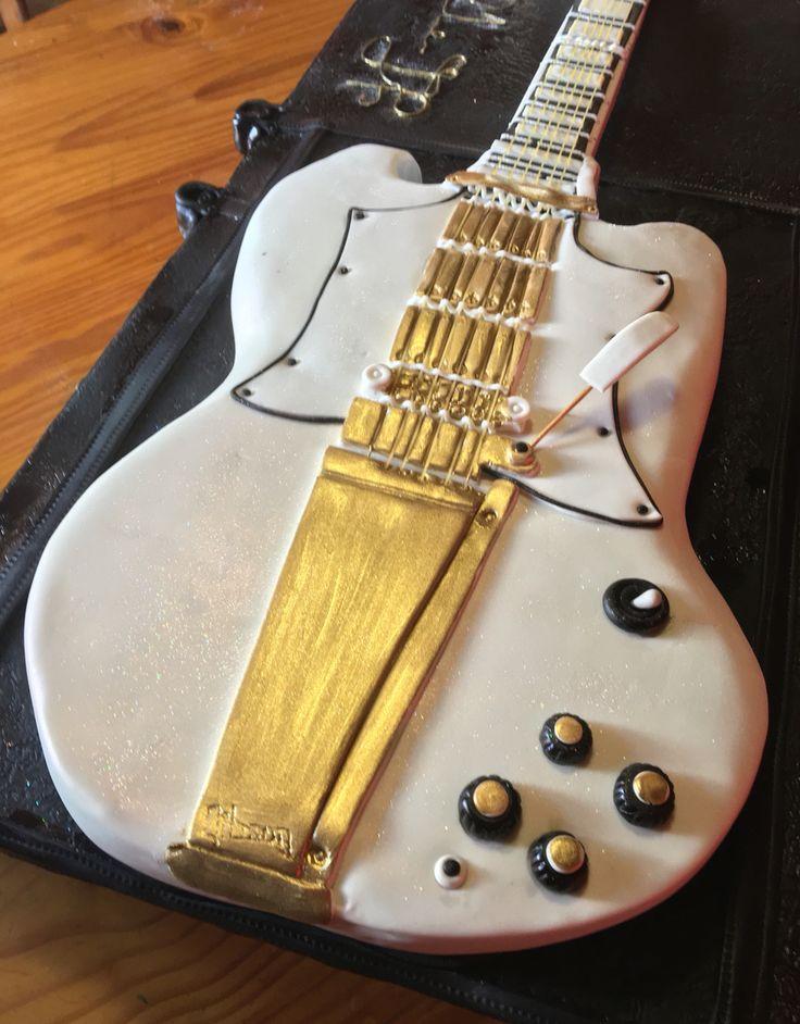 life size guitar cake..1968 Gibson