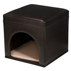 Function meets style in this contemporary pet bed / ottoman. A comfortable place for your cat or small dog and makes a beautiful addition to your home decor.