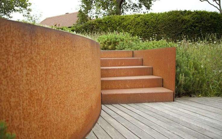 Decorazioni per il giardino in acciaio - Scale in acciaio corten