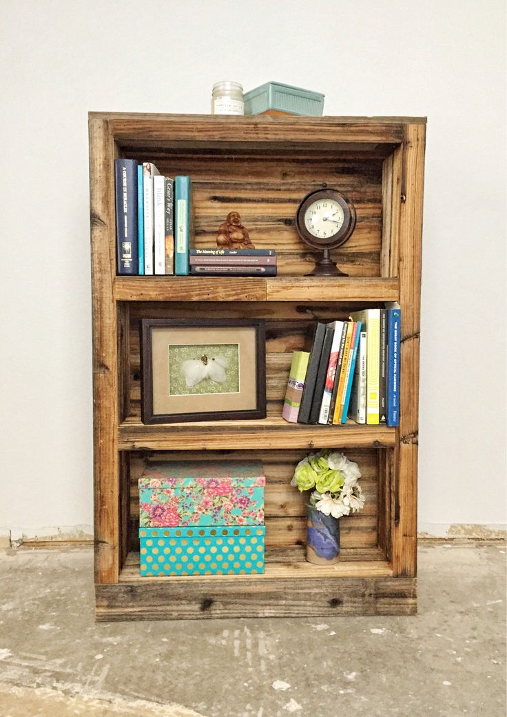 Rustic Reclaimed Wood Bookcase