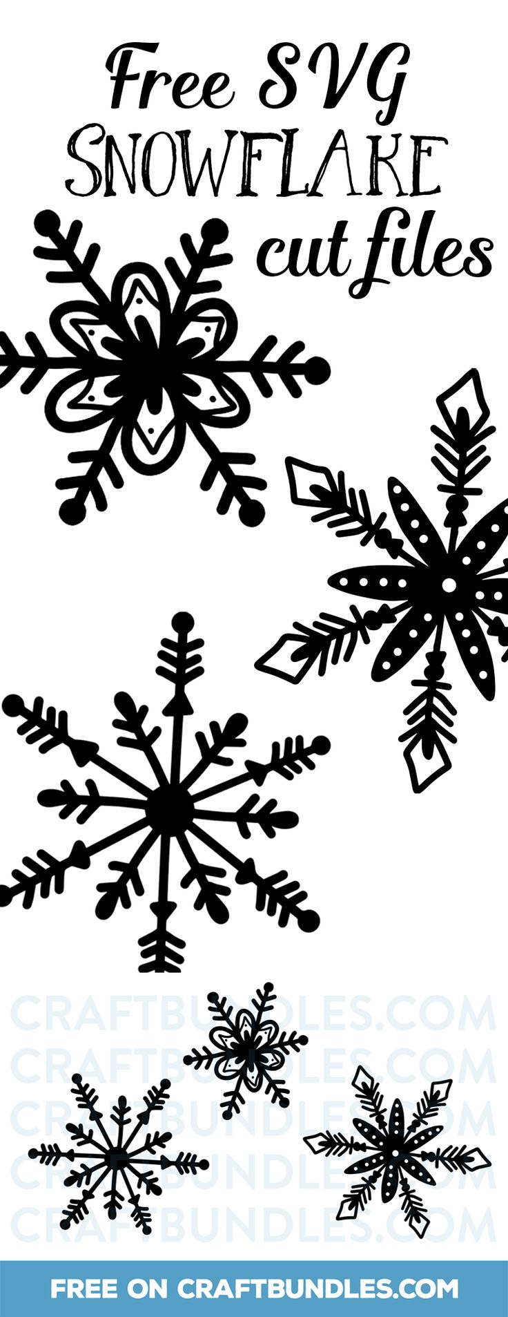 Free SVG Snowflake Cut Files