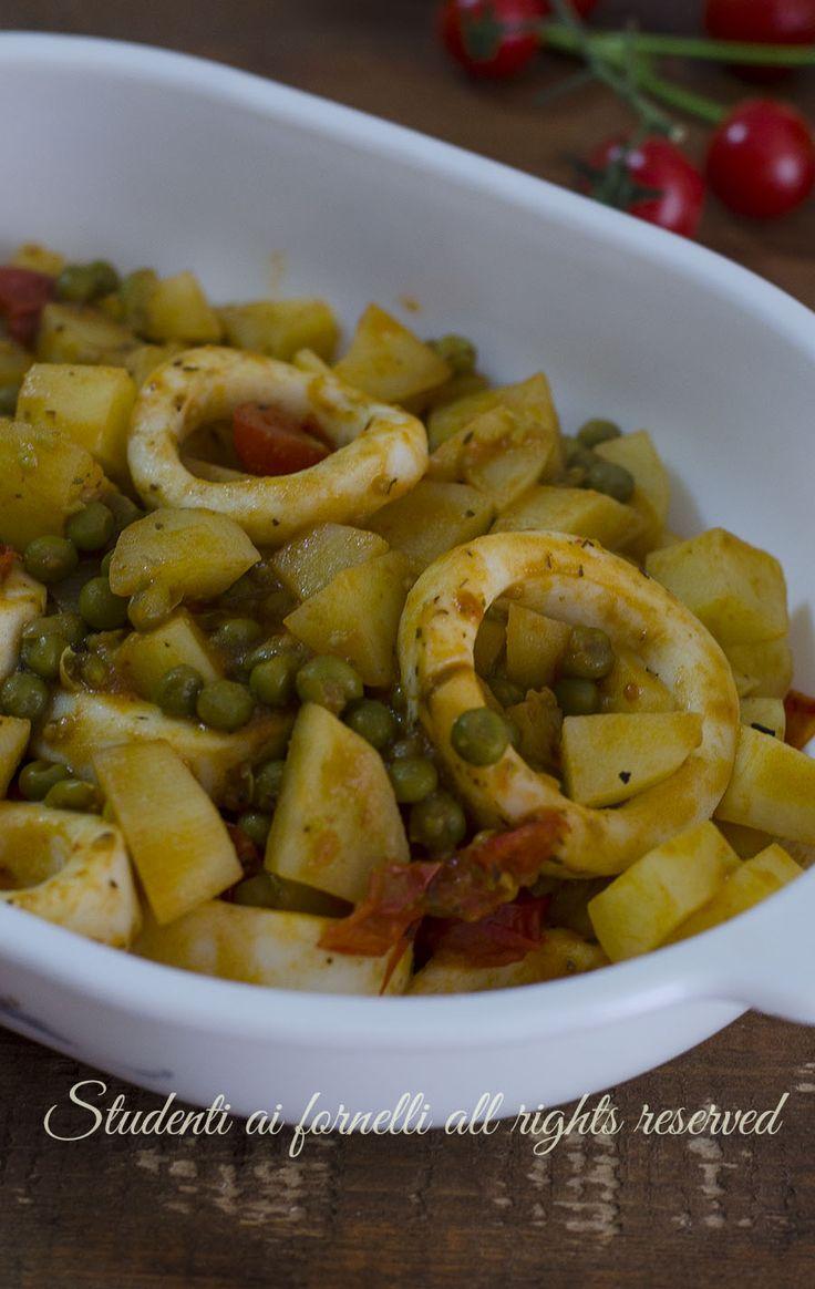 calamari al forno con piselli e patate ricetta secondo di pesce facile veloce economico