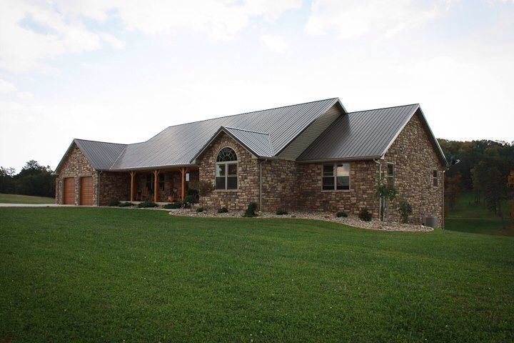 Ranch Cultured Stone Metal Roof Rustic Home Sweet Home