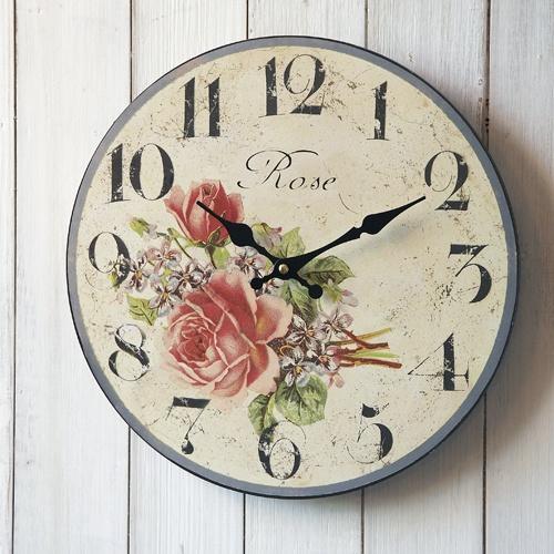 Red Rose reloj de pared