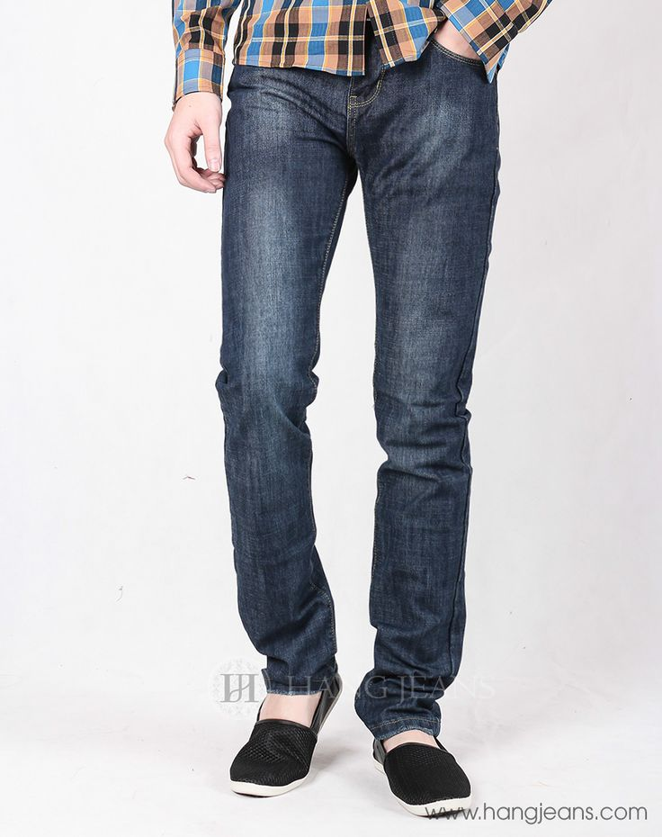 Hằng Jeans - Quần jeans xanh mài trẻ trung 15T1213