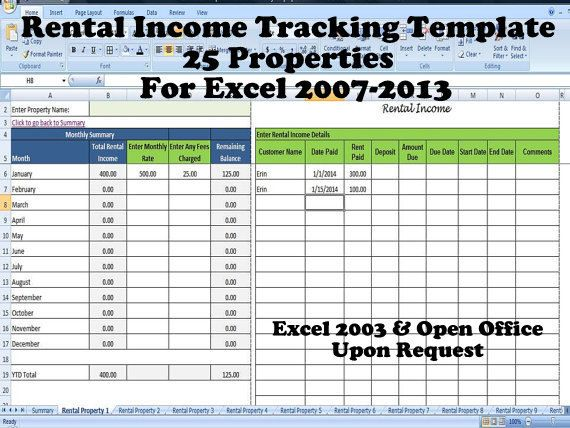 payment record template excel