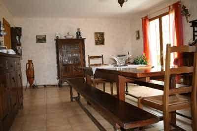 Salle à manger des Chambres d'hôtes à vendre près de Cahors et Rocamadour dans le Lot