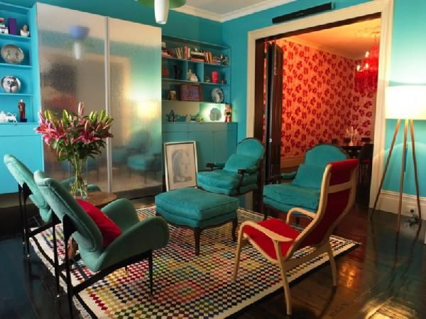 Best  Decorating With Color Red And Teal Images On Pinterest - Red and turquoise living room