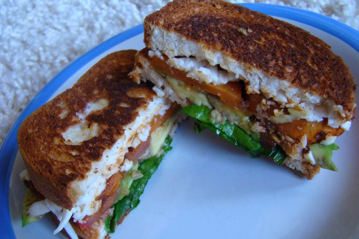 GF BBQ Sweet Potato & Avocado Grilled Cheese Sandwich