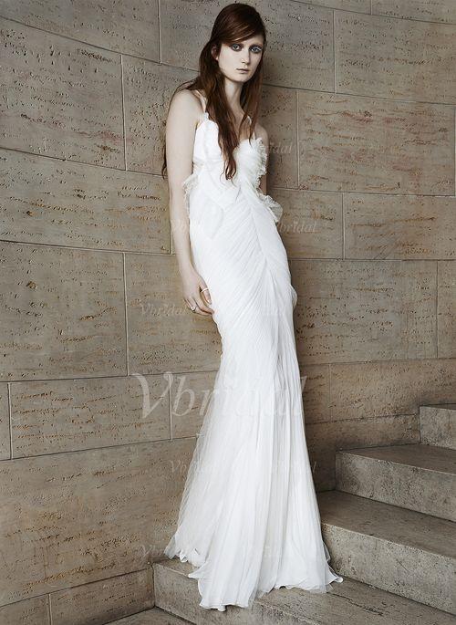 Abiti per matrimonio - $171.31 - A sirena/Stile sirena A cuore A terra Tyll Abito per matrimonio con Increspature (0025058424)