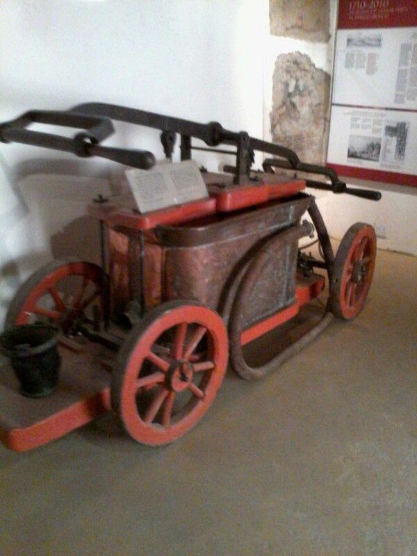 Fire engine dated1732. Stellenbosch, Western Cape.
