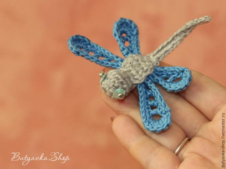 Knit crochet fun dragonfly - Fair Masters - handmade, handmade