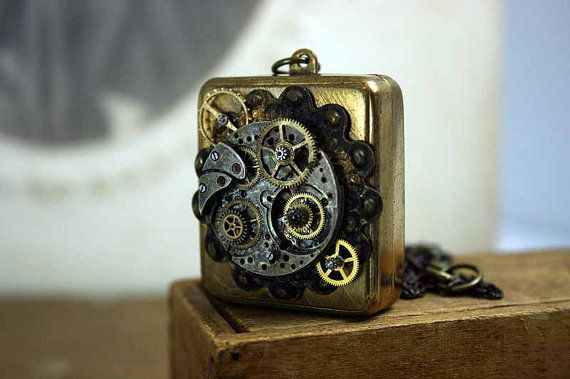 Steampunk Music Box: Steampunk Music, Boxes Time, Jewelry Necklaces, Music Jewelry, Vintage Jewels, A Necklaces Lockets, Necklaces Music, Music Boxes Necklaces, Steampunk Necklaces