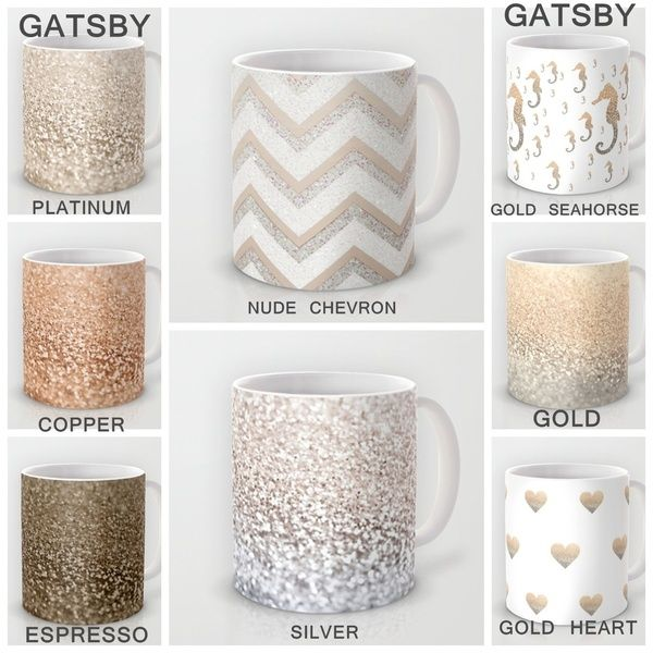 Celebrate your coffee with GATSBY GLITTER MUGS