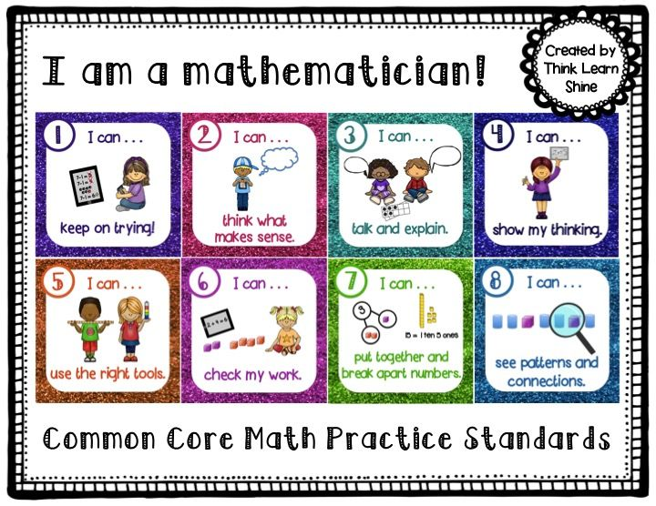 K-2 Common Core Math Practice Standards posters!