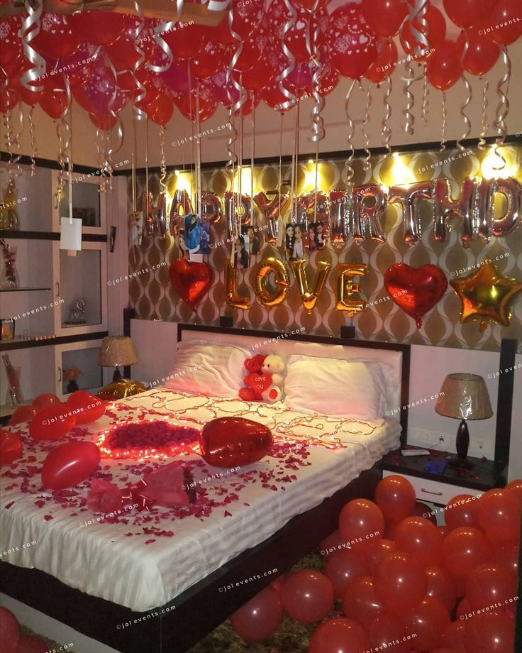Birthday Surprise Room Decoration On Wife S Birthday At Home Make