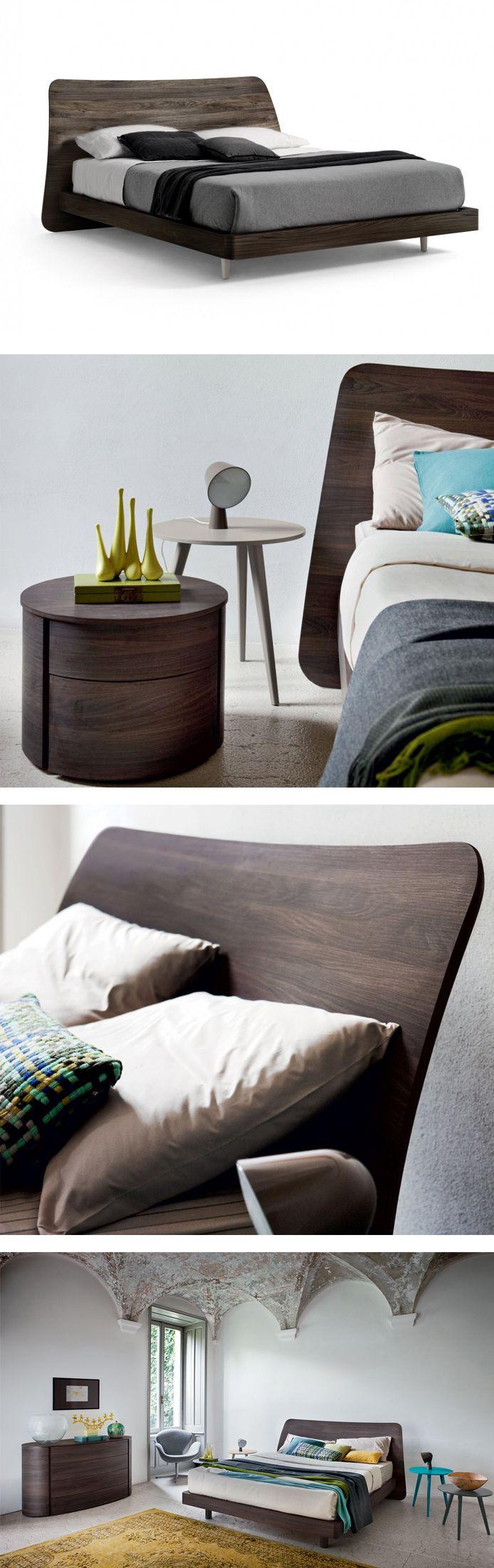 Das Design Holzbett Sheet Von Novamobili Hat Ein Modern Geschwungenes  Kopfteil. #Schlafzimmer #bedroom